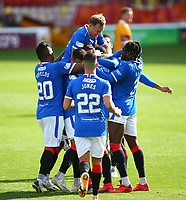 27th September 2020; Fir Park, Motherwell, North Lanarkshire, Scotland; Scottish Premiership Football, Motherwell versus Rangers; Cedric Itten of Rangers celebrates after he makes it 4-0 in the 75th minute