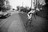 Gent-Wevelgem 2013.Gatis Smukulis (LVA) out of the race