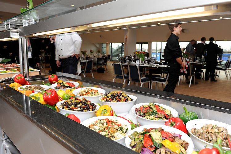 20130216 Copyright onEdition 2013©.Free for editorial use image, please credit: onEdition..General view of the catering in the Tulip Club during thePremiership Rugby match between Saracens and Exeter Chiefs at Allianz Park on Saturday 16th February 2013 (Photo by Rob Munro)..For press contacts contact: Sam Feasey at brandRapport on M: +44 (0)7717 757114 E: SFeasey@brand-rapport.com..If you require a higher resolution image or you have any other onEdition photographic enquiries, please contact onEdition on 0845 900 2 900 or email info@onEdition.com.This image is copyright onEdition 2013©..This image has been supplied by onEdition and must be credited onEdition. The author is asserting his full Moral rights in relation to the publication of this image. Rights for onward transmission of any image or file is not granted or implied. Changing or deleting Copyright information is illegal as specified in the Copyright, Design and Patents Act 1988. If you are in any way unsure of your right to publish this image please contact onEdition on 0845 900 2 900 or email info@onEdition.com