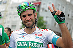Luis Mas (ESP) Caja Rural-Seguros RGA surprised and emotional winner of Stage 8 of the 2015 Presidential Tour of Turkey running 124km from Istanbul to Istanbul. 3rd May 2015.<br /> Photo: Tour of Turkey/Mario Stiehl/www.newsfile.ie