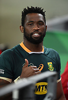 Siya Kolisi - South Africa captain is all smiles at the end of the match following a 27-9 victory for Springboks in the 2nd Test match.<br /> South Africa v British & Irish Lions, 2nd Test, Cape Town Stadium, Cape Town, South Africa,  Saturday 31st July 2021. <br /> Please credit: FOTOSPORT/DAVID GIBSON