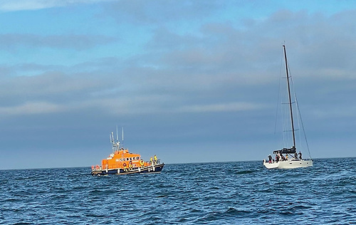 Freya stopped racing in the Dun Laoghaire to Dingle Race last night to rescue a kite-surfer off the Wicklow coast