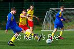 Martas Grazevicius Killorglin FC in action against Avenue in the FAI cup in Killorglin on Saturday
