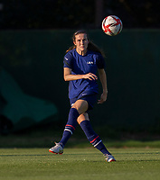 KASHIMA, JAPAN - AUGUST 1: Tierna Davidson #12 of the USWNT crosses the ball during a training session at the practice field on August 1, 2021 in Kashima, Japan.