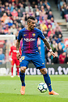 Jose Paulo Bezerra Maciel Junior, Paulinho, of FC Barcelona in action during the La Liga 2017-18 match between FC Barcelona and Valencia CF at Camp Nou on 14 April 2018 in Barcelona, Spain. Photo by Vicens Gimenez / Power Sport Images