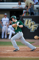 Siena Saints pinch hitter John Wheeler (33) follows through on a swing during a game against the UCF Knights on February 17, 2019 at John Euliano Park in Orlando, Florida.  UCF defeated Siena 7-1.  (Mike Janes/Four Seam Images)