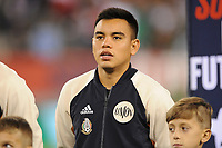 EAST RUTHERFORD, NJ - SEPTEMBER 7: Carlos Rodriguez #8 of Mexico during the presentation of the team during a game between Mexico and USMNT at MetLife Stadium on September 6, 2019 in East Rutherford, New Jersey.