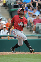 Altoona Curve outfielder Mel Rojas Jr. (3) during game against the Trenton Thunder at ARM & HAMMER Park on July 24, 2013 in Trenton, NJ.  Altoona defeated Trenton 4-2.  Tomasso DeRosa/Four Seam Images