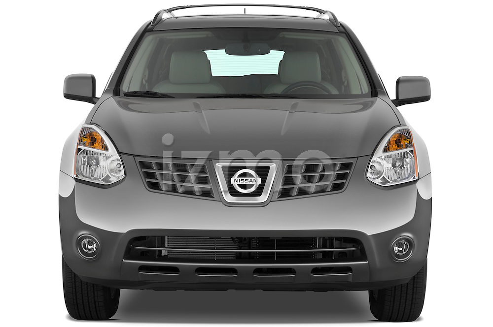 Straight front view of a 2009 Nissan Rogue SL