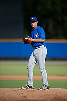 Toronto Blue Jays starting pitcher Graham Spraker (87) gets ready to deliver a pitch during an Instructional League game against the Pittsburgh Pirates on October 14, 2017 at the Englebert Complex in Dunedin, Florida.  (Mike Janes/Four Seam Images)