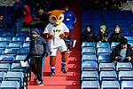 The Oldham mascot takes to the pitch. Oldham v Portsmouth League 1