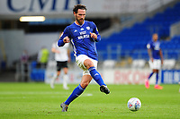 Sean Morrison of Cardiff City in action during the Sky Bet Championship match between Cardiff City and Derby County at the Cardiff City Stadium in Swansea, Wales, UK. Tuesday 14 July 2020