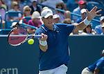 John Isner (USA) Defeats Novak Djokovic (SRB), 7-6, 3-6, 7-5