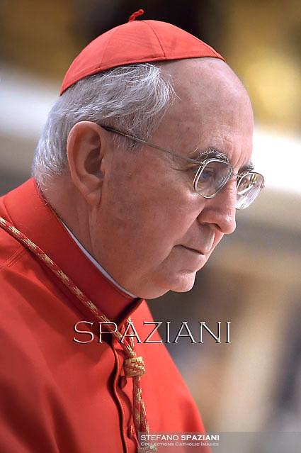 Cardinal Agostino Vallini,Pope Francis attends a Penitential Liturgy ceremony at St. Peter's Basilica in the Vatican.March 28, 2014