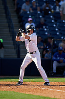 New York Yankees Zack Zehner (63) bats during a Spring Training game against the Toronto Blue Jays on February 22, 2020 at the George M. Steinbrenner Field in Tampa, Florida.  (Mike Janes/Four Seam Images)