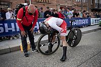 Marta Jaskulska (POL/Liv Racing) after finishing<br /> <br /> Women Elite Individual Time Trial from Knokke-Heist to Bruges (30.3 km)<br /> <br /> UCI Road World Championships - Flanders Belgium 2021<br /> <br /> ©kramon