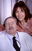 Domenico Modugno 25 anni dalla morte,  Domenico Modugno con La Moglie Franca Gandolfi Fotografato nella sua casa di Roma. 1987