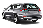 Car pictures of rear three quarter view of a 2015 Ford Mondeo Titanium 5 Door Wagon 2WD Angular Rear