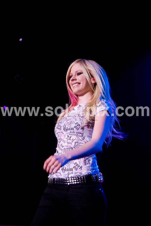 """**ALL ROUND PICTURES FROM SOLARPIX.COM**.**SYNDICATION RIGHTS FOR UK, SPAIN, PORTUGAL, AUSTRALIA, S.AFRICA & DUBAI (U.A.E) ONLY**.Singer Avril Lavigne on  """"The Best Damn Tour 2008"""" - In Chicago USA .JOB REF: 5998    PHZ    DATE: 21.03.08.**MUST CREDIT SOLARPIX.COM OR DOUBLE FEE WILL BE CHARGED* *UNDER NO CIRCUMSTANCES IS THIS IMAGE TO BE REPRODUCED FOR ANY ONLINE EDITION WITHOUT PRIOR PERMISSION*"""