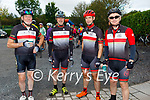 Ready for road in the Tom Crean Cycle fundraiser for Down Syndrome Kerry on Saturday morning, l to r: Colin Scott, Cathal Foley, Kerry Kennelly and Colin Lacey from the Tralee Chain Gang.