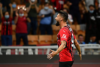 Calcio, Serie A: AC Milan - Cagliari calcio, Giuseppe Meazza (San Siro) stadium, Milan on August 29, 2021.  <br /> Milan's Olivier Giroud celebrates after scoring during the Italian Serie A football match between Milan and Cagliari at Giuseppe Meazza stadium, on August 29, 2021.  <br /> UPDATE IMAGES PRESS/Isabella Bonotto
