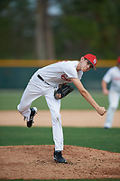 Ricky Daugherty (15), from Valles Mines, Missouri, while playing for the Nationals during the Baseball Factory Pirate City Christmas Camp & Tournament on December 28, 2017 at Pirate City in Bradenton, Florida.  (Mike Janes/Four Seam Images)