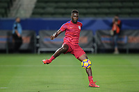 Carson, CA - Sunday January 28, 2018: CJ Sapong prior to an international friendly between the men's national teams of the United States (USA) and Bosnia and Herzegovina (BIH) at the StubHub Center.