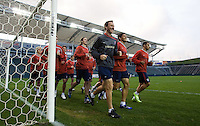 Pierre Barrieu leads USA Training with Brian Ching, Charlie Davies and Sacha Kljestan, Home Depot Center, Carson, California, Jan. 23, 2009