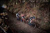 Lucinda Brand (NED/Telenet-Baloise Lions) leading up the infamous Koppenberg<br /> <br /> Koppenbergcross 2020 (BEL)<br /> women's race<br /> <br /> ©kramon