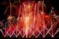 Fireworks Display at Butchart Gardens at Brentwood Bay near Victoria, BC, Vancouver Island, British Columbia, Canada