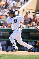 March 21st 2008:  Magglio Ordonez of the Detroit Tigers during Spring Training at Joker Marchant Stadium in Lakeland, FL.  Photo by:  Mike Janes/Four Seam Images