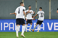 Francesco Caputo of Italia celebrates after scoring the 2-0 goal during the friendly football match between Italy and Moldova at Artemio Franchi Stadium in Firenze (Italy), October, 7th 2020. Photo Andrea Staccioli/ Insidefoto