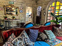 Wall and interior decoration, vintage. Oaxaca House and Mona Cafe in the Center of Hermosillo, Sonora.<br /> <br /> Decoración de paredes e interiotes, vintage. Casa Oaxaca y cafe Mona en el Centro de Hermosillo, Sonora. <br /> <br /> (Photo by Luis Gutierrez / NortePhoto.com)