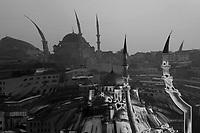 Mosque graphic, Istanbul, Turkey