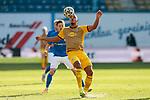 20.02.2021, xtgx, Fussball 3. Liga, FC Hansa Rostock - SV Waldhof Mannheim, v.l. Anton Donkor (Mannheim, 19) <br /> <br /> (DFL/DFB REGULATIONS PROHIBIT ANY USE OF PHOTOGRAPHS as IMAGE SEQUENCES and/or QUASI-VIDEO)<br /> <br /> Foto © PIX-Sportfotos *** Foto ist honorarpflichtig! *** Auf Anfrage in hoeherer Qualitaet/Aufloesung. Belegexemplar erbeten. Veroeffentlichung ausschliesslich fuer journalistisch-publizistische Zwecke. For editorial use only.