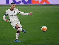 Football: Europa League - quarter final 2nd leg AS Roma vs Ajax, Olympic Stadium. Rome, Italy, March 15, 2021.<br /> Roma's captain Lorenzo Pellegrini in action during the Europa League football match between Roma at Rome's Olympic stadium, Rome, on April 15, 2021.  <br /> UPDATE IMAGES PRESS/Isabella Bonotto
