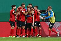 Mitchell Weiser 1:0, Vedad Ibisevic, Mathew Leckie, Karim Rekik, Vladimir Darida  <br /> / Sport / Fußball Fussball / DFB Pokal 1. Runde 3.Liga Bundesliga / Saison 2017/2018 / 14.08.2017 / FC Hansa Rostock FCH vs. Hertha BSC Berlin  *** Local Caption *** © pixathlon +++ tel. +49 - (040) - 22 63 02 60 - mail: info@pixathlon.de