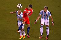 Action photo during the match Argentina vs Chile corresponding to the Final of America Cup Centenary 2016, at MetLife Stadium.<br /> <br /> Foto durante al partido Argentina vs Chile cprresponidente a la Final de la Copa America Centenario USA 2016 en el Estadio MetLife , en la foto:Javier Mascherano de Argentina<br /> <br /> <br /> 26/06/2016/MEXSPORT/JAVIER RAMIREZ