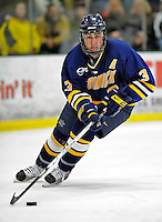 16 February 2008: Merrimack College Warriors' defenseman Joe Loprieno, a Sophomore from Bloomingdale, IL, in action against the University of Vermont Catamounts at Gutterson Fieldhouse in Burlington, Vermont. The Catamounts defeated the Warriors 2-1 for their second win of the 2-game weekend series...Mandatory Photo Credit: Ed Wolfstein Photo