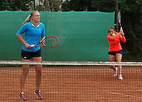 August 17, 2014, Netherlands, Raalte, TV Ramele, Tennis, National Championships, NRTK, Womans Final :  Nicole Thijssen/Mandy Wagemakers (L)(NED)<br /> Photo: Tennisimages/Henk Koster