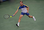 August 14,2018:   Peter Gojowczyk loses to Roger Federer (SUI) 6-4, 6-4,  at the Western & Southern Open being played at Lindner Family Tennis Center in Mason, Ohio.  ©Leslie Billman/Tennisclix/CSM