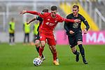 v.li.: Leon Dajaku (Bayern München, FCB, 7) Marlon Ritter (Kaiserslautern, 7) im Zweikampf, Duell, duel, tackle, Dynamik, Action, Aktion beim Spiel in der 3. Liga, FC Bayern München II -1. FC Kaiserslautern.<br /> <br /> Foto © PIX-Sportfotos *** Foto ist honorarpflichtig! *** Auf Anfrage in hoeherer Qualitaet/Aufloesung. Belegexemplar erbeten. Veroeffentlichung ausschliesslich fuer journalistisch-publizistische Zwecke. For editorial use only. DFL regulations prohibit any use of photographs as image sequences and/or quasi-video.