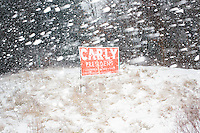 Carly Fiorina - Campaign sign in snow - near Derry, NH - 16 Jan 2016