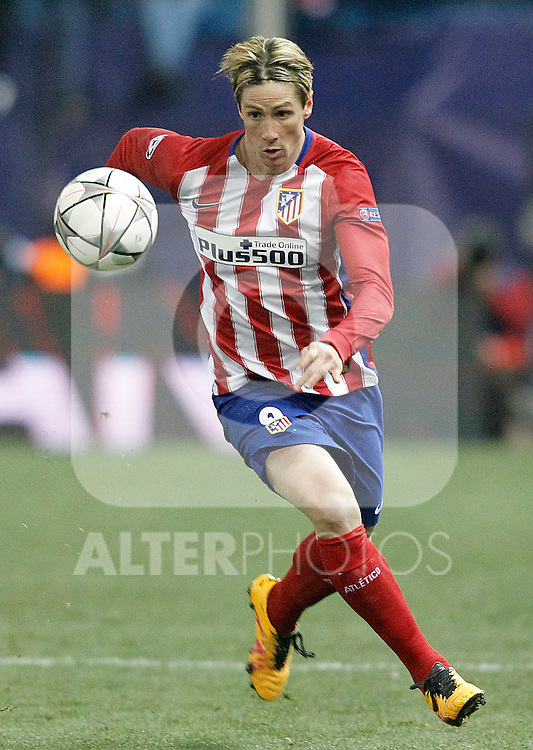 Atletico de Madrid's Fernando Torres during UEFA Champions League match. March 15,2016. (ALTERPHOTOS/Acero)