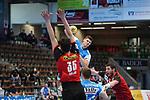 Sebastian Heymann (FAG) beim Wurf beim Spiel in der Handball Bundesliga, Frisch Auf Goeppingen - Fuechse Berlin.<br /> <br /> Foto © PIX-Sportfotos *** Foto ist honorarpflichtig! *** Auf Anfrage in hoeherer Qualitaet/Aufloesung. Belegexemplar erbeten. Veroeffentlichung ausschliesslich fuer journalistisch-publizistische Zwecke. For editorial use only.
