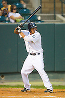 Mario Yepez #25 of the Pulaski Mariners at bat against the Greeneville Astros at Calfee Park August 29, 2010, in Pulaski, Virginia.  Photo by Brian Westerholt / Four Seam Images
