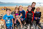 Peadar and Saoirse Stack, Sarah Chute, Mark and Sophie Hassett and Anna Chute enjoying the sun drenched afternoon on Fenit beach on Saturday.