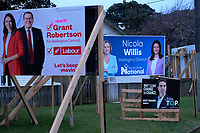 2020 New Zealand election hoardings on John Street in Wellington, New Zealand on Sunday, 2 August 2020. Photo: Dave Lintott / lintottphoto.co.nz