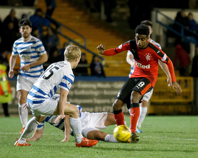 Gedion Zelalem trying to trick his way past the Morton defence