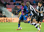 Ousmane Dembele (L) of FC Barcelona is followed by Antonio Manuel Luna Rodriguez of Levante UD during the La Liga 2017-18 match between FC Barcelona and Levante UD at Camp Nou on 07 January 2018 in Barcelona, Spain. Photo by Vicens Gimenez / Power Sport Images